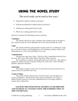 Novel Ideas: Magic Tree House #9 to #12 - Four Complete Novel Studies