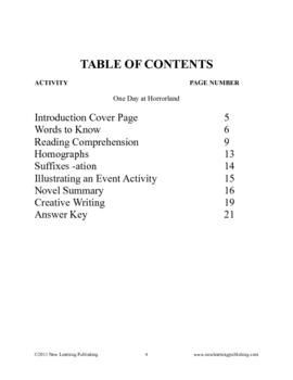 Novel Ideas - R.L. Stine's Goosebumps One Day at Horrorland