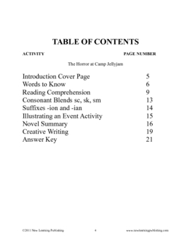 Novel Ideas - R.L. Stine's Goosebumps The Horror at Camp Jellyjam