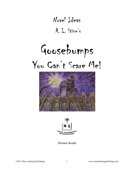 Novel Ideas - R.L. Stine's Goosebumps You Can't Scare Me