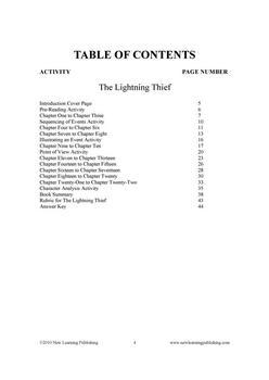 Novel Ideas - Rick Riordan's Percy J and the Oly.: The Lightning Thief