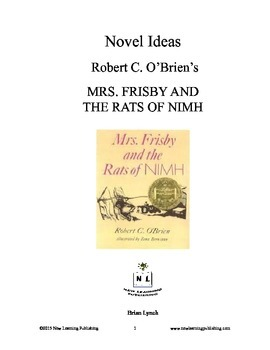 Mrs frisby and the rats of nimh comprehension teaching resources novel ideas robert c obriens mrs frisby and the rats of fandeluxe Gallery