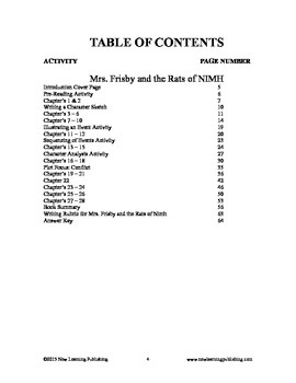 Novel Ideas - Robert C. O'Brien's Mrs. Frisby and the Rats of NIMH