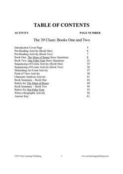 Novel Ideas - The 39 Clues Books 1 and 2
