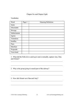 Novel Ideas - The 39 Clues Books 3 and 4