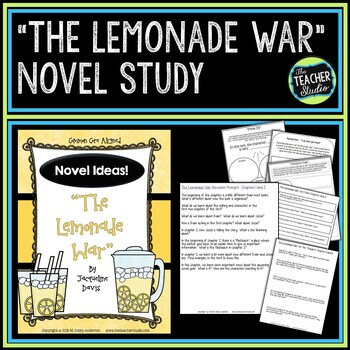 "Novel Ideas:  ""The Lemonade War"" Common Core Aligned Novel Unit"