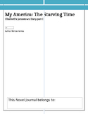 Novel Journal for My America: The Starving Time, Elizabeth's Diary