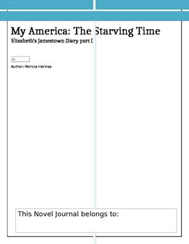 Novel Journal for My America: The Starving Time, Elizabeth