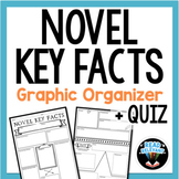 Novel Key Facts Graphic Organizer for ANY Novel with Liter
