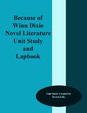 Because of Winn Dixie Novel Literature Unit Study and Lapbook