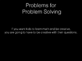 Novel Math Problems