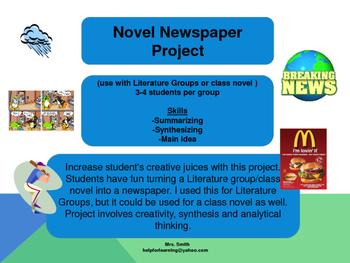 Novel Study: Newspaper Project