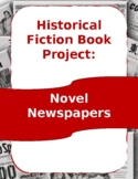 Novel Newspapers -Historical Fiction Book Project Letter and Rubric