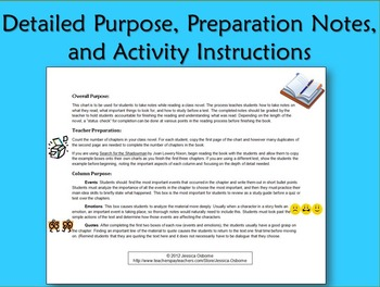 Note Taking Graphic Organizer for any book