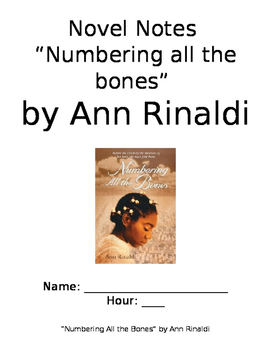 """Novel Notes """"Numbering All the Bones"""" by Ann Rinaldi"""