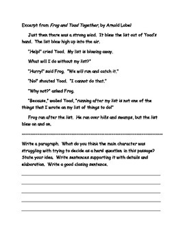 Close Reading for 1st Grade with excerpts and posters