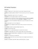 Novel Of Fairfield Plantation (Glossary)