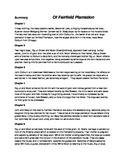 Novel Of Fairfield Plantation (Summary: Chapters 1-16)