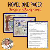 Novel One Pager- for use with any novel/Secondary English