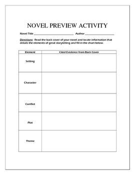 Novel Preview Activity