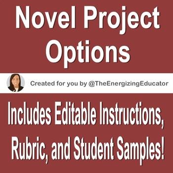 Novel Project Options, Instructions, & Rubric