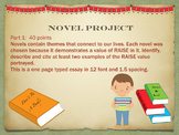 Novel Project for Middle Schoolers