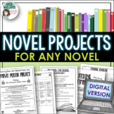 Novel Projects for ANY Novel Study - DIGITAL DISTANCE LEARNING