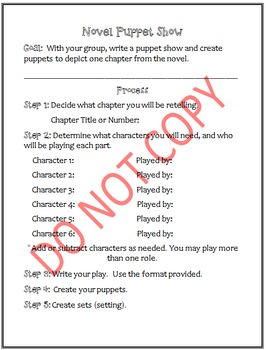 Novel Puppet Show - Chapter retelling
