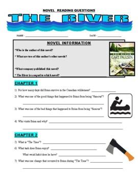 Novel Questions - THE RIVER (Gary Paulsen)