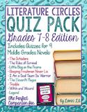 Novel Quiz Pack for 7th-8th Grade Literature Circles