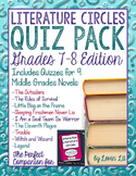 Novel Quiz Pack for 7th-8th Grade Literature Circles