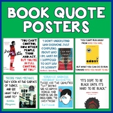 Novel Quote Posters (Young Adult Lit)