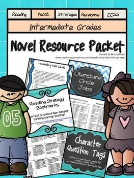 Novel Resource Bundle - Great for summer reading activities!