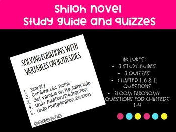 Novel Shiloh Study Guides and Quiz