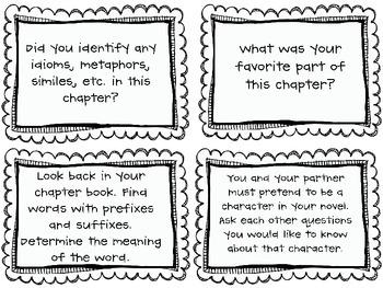 Novel Studies: 16 Group Question Cards