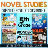 5th Grade Novel Studies Bundle | Distance Learning