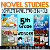 5th Grade Novel Studies Bundle | Distance Learning