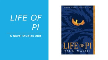 Novel Studies Life of Pi All-In-One Lesson PowerPoint