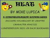 Heat by Mike Lupica Novel Study- 5 Vocabulary and Comprehension Bookmarks