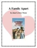 Novel Study, A Family Apart (by Joan Lowery Nixon) Study Guide