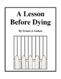 Novel Study, A Lesson Before Dying (by Ernest J. Gaines) Study Guide
