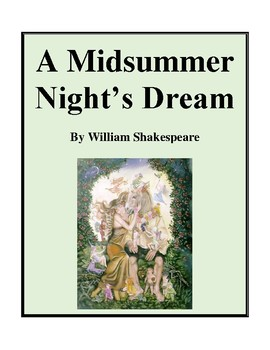 Novel Study, A Midsummer Night's Dream (by William Shakesp