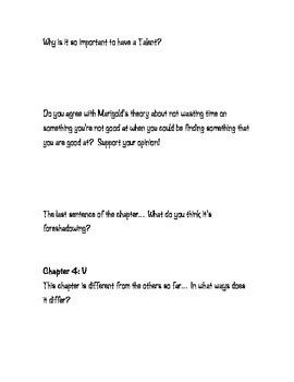 Novel Study- A Tangle of Knots