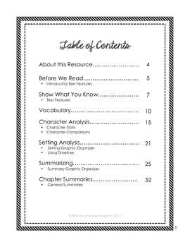 Novel Study Activity Guide
