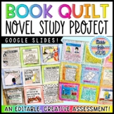 Book Quilt Novel Study Activity - Final Project for ANY Novel