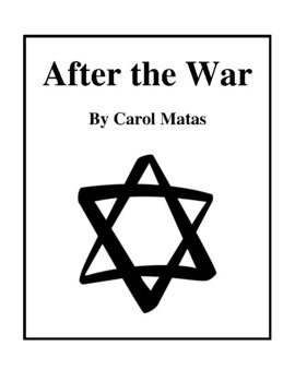 Novel Study, After the War (by Carol Matas) Study Guide