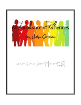 Novel Study, An Abundance of Katherines (by John Green) Study Guide