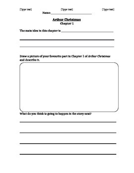 Novel Study - Arthur Christmas - Chapter 1