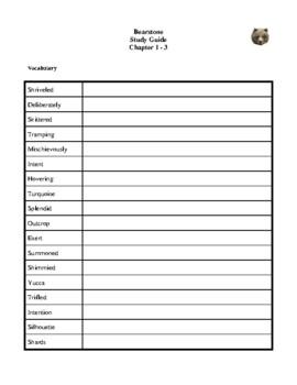 Novel Study, Bearstone (by Will Hobbs) Study Guide