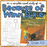 Novel Study: Because of Winn Dixie by Kate DiCamillo